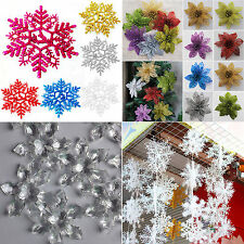 Christmas Flowers Snowflake Xmas Tree Decoration Wedding Party Holiday Ornament