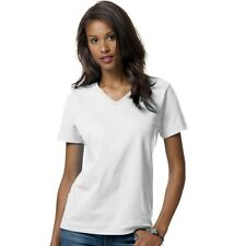 Hanes Relaxed Fit Women's ComfortSoft V-Neck T-Shirt - 10 COLORS - S-3XL