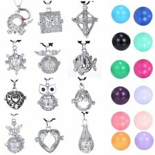 HOT Heart Pendant Locket Cage Necklace Pregnancy Chime Ball Gift