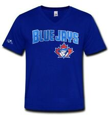Toronto Blue Jays MLB Mens Majestic Polyester V Neck Shirt Royal Adult Sizes