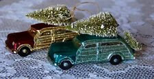 Classic Woody Car Ornament with Christmas Tree - Choice of Two Colors