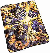 BBC Doctor Who Exploding TARDIS Throw Blanket - Officially Licensed