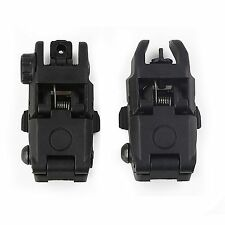 20MM Rail Gen1 2Pcs Tactical Folding Front/Rear Flip Up Backup Sights BUIS Set