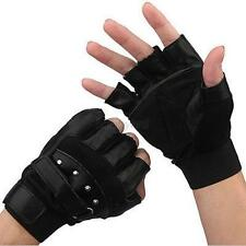 Cool Men's Leather Gloves Half Finger Fingerless Stage Sports Cycling Driving