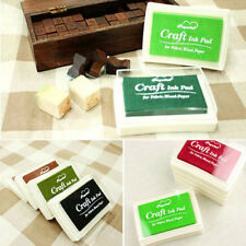 Fashion Oil Based DIY Craft Ink Pad Rubber Stamps for Fabric Wood Paper Wedding