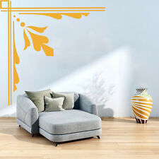 Floral Lines Border Corner Piece Floral Design Wall Sticker Home Decor Art Decal