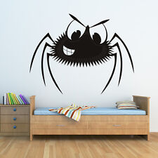 Cartoon Spider Kids Scary Halloween Wall Stickers Seasonal Home Decor Art Decals