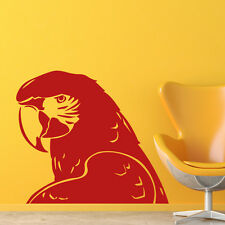 Macaw Parrot Head Profile Birds & Feathers Wall Stickers Home Decor Art Decals
