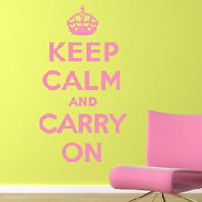 Keep Calm And Carry On Keep Calm Quotes Wall Stickers Home Decor Art Decals