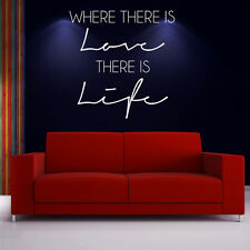 Where There Is Love - Gandhi Life And Inspirational Quote Wall Sticker Art Decal