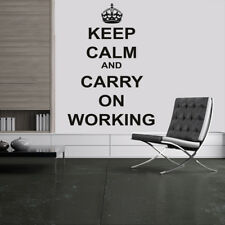 Keep Calm And Carry On Working Keep Calm Quotes Wall Stickers Home Art Decals