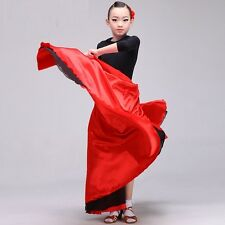 Kids' Spanish Senorita Latin Rumba Salsa Flamenco Dancer Dance Dress Skirt