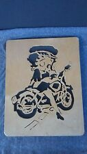 Vintage Betty Boop Hand Made Carved Wooden Wall Hanging