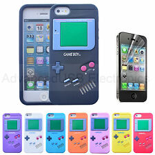 Retro Gameboy Silicone Skin Case Cover iPhone 7 6S Colour Choice Screen Guard