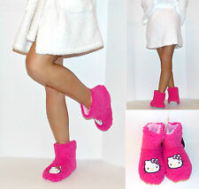 NWT Sanrio Hello Kitty Sherpa Slipper Boots for Women, 5/6,Pink