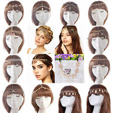 Fashion Women Metal Rhinestone Head Chain Headband Head Piece Hair Band Jewelry