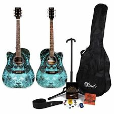 Lindo Fractal / Mahogany Acoustic Guitar / Left Handed  / accessory pack