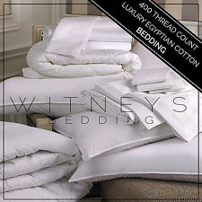 New Luxury Egyptian Cotton Bedding, Fitted, Flat, Duvet Cover 400 Thread Count