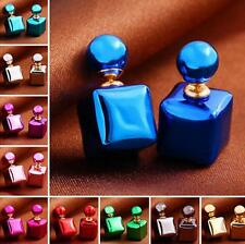 Colors Charm Candy Jewelry Earrings 1 Pair Square Statement Colorful Stud Women