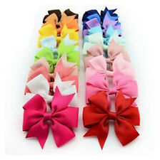 Hairpin New Hot 1PC Grosgrain Ribbon Bow Girls Hair Big Clips Baby Boutique