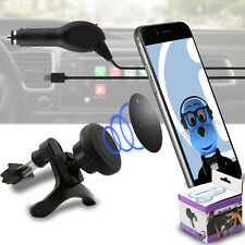 Magnetic Air Vent In Car Holder & Car Charger for Motorola MB855 Photon 4G