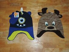 Healthtex Toddler Boy Winter Critter Hat or Hat & Mitten Set Size 2-5T NEW!