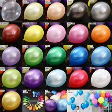 12''Pearl Latex Balloons Wedding Birthday Shower Party Christmas Valentine's Day