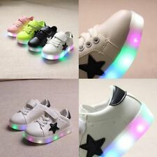 Light Up Sneakers Flat Shoes LED Trainers for Kids Children Boys Girls St