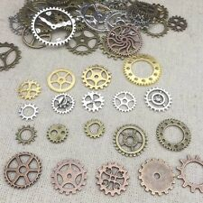 New 50 grams/Pack Vintage Alloy Steampunk Wind Gear Charms for Jewelry Pendants