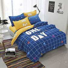 Twin Queen King Bed Set Pillowcase Quilt Duvet Cover Blue One Day Ous