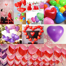 100pcs Assorted Heart Shaped Latex Balloons Wedding Birthday Party Decoration JS