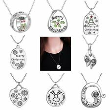 Hot Women Pendant Necklace Xmas Christmas Gift Jewellery Fashion Chain Snowflake