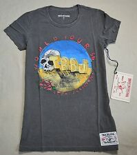NWT WOMENS TRUE RELIGION BLACK LOVE SCOOP NECK TEE T SHIRT SIZE SMALL