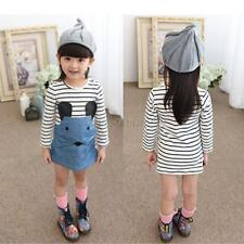 Child Girls Kids Dress Tops Skirts Long Sleeve 2-6Y Baby Party One-Piece Clothes