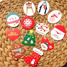 50pcs/lot Mini Merry Christmas Wishing Cards/Tags Xmas Gift Decoration Label