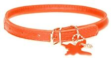 """Rolled Leather Dog Collars. Finest Quality. Chrome.VERY Soft, RED Sizes 9"""" - 24"""""""