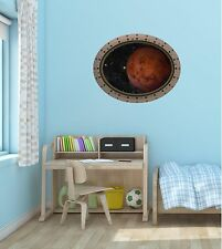 Porthole Spaceship Window PLANET MARS #1 OVAL Space Wall Sticker Decal Graphic
