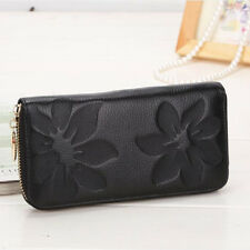 Lady Women Clutch Leather Wallet Coin Purse Zip Handbag Card Holder Long US Ship