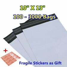 100-3000 10x13 Poly Mailers Shipping Envelopes Self Sealing Plastic Bags 2.4 Mil