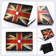 """UK British Flag Rubberized Hard Case Cover for MacBook 12""""/ Air Pro 11"""" 13""""15"""""""