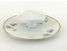 porcelain hors d'oeuvre dish hand painted Bavaria 1900's