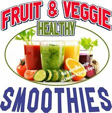 Smoothies DECAL (CHOOSE YOUR SIZE) Fruit Veggie Food Sign Restaurant Concession