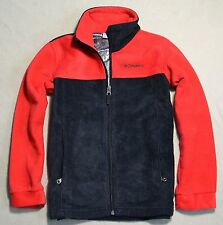 NEW BOY GIRL COLUMBIA STEENS MT II FLEECE RED BLACK FULL ZIP JACKET COAT SZ S(8)