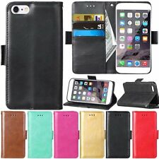 Flip Leather Wallet Cards Stand Magnetic Case Cover For iPhone 5 5s SE 6 6s Plus