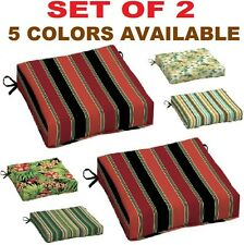 Seat Pad Chair Cushion Set Garden Outdoor Dining Patio Furniture 2 PACK NEW