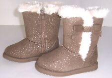 Jumping Beans Toddler Girls Faux Fur Trimmed Suede Boots NWB Size 8