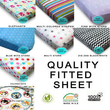 Children's Patterned, Printed, Girls, Boys, Patterns, Fitted Sheet 100% Cotton