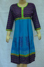 Women Kurta Kurti Indian Tunic Anarkali Suit Top Cotton Ethnic Wear Dress