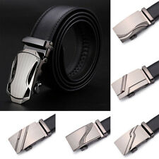 Men Business Automatic Waistband Genuine Leather Buckle Belt Waist Strap Belts