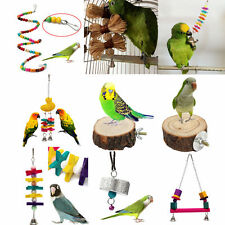 New Multi Pet Bird Parrot Bite Chew Toy Paw Grinding Stand Perches Cage Budgieღ